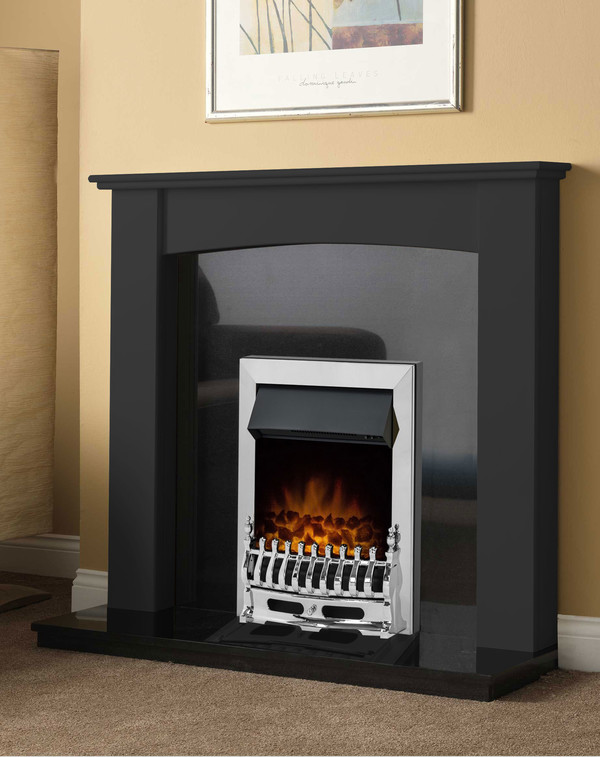 Brampton Fire Surround in Matt Black
