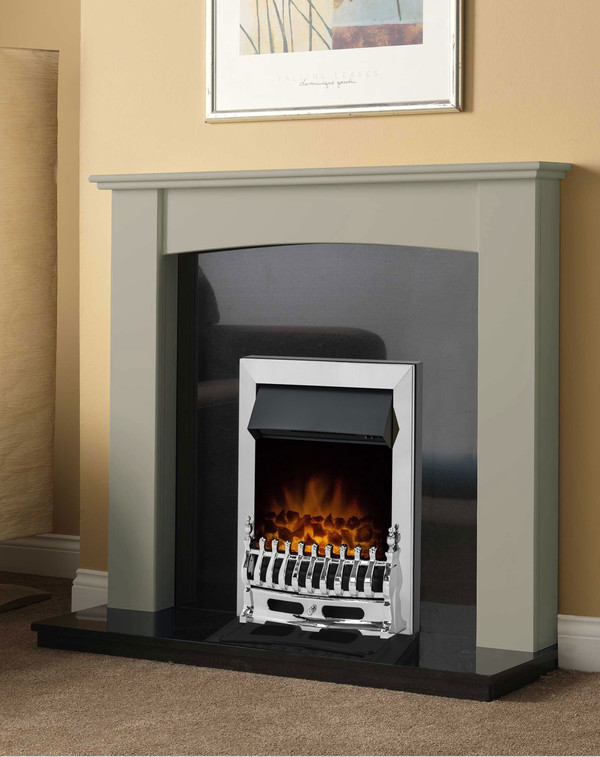 Brampton Fire Surround in Smooth Olive