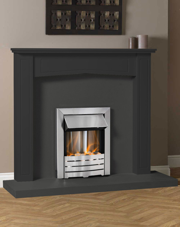 Clyde Fire Surround Shown Here in Smooth Slate