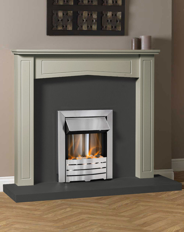 Clyde Fire Surround Shown Here in Smooth Olive