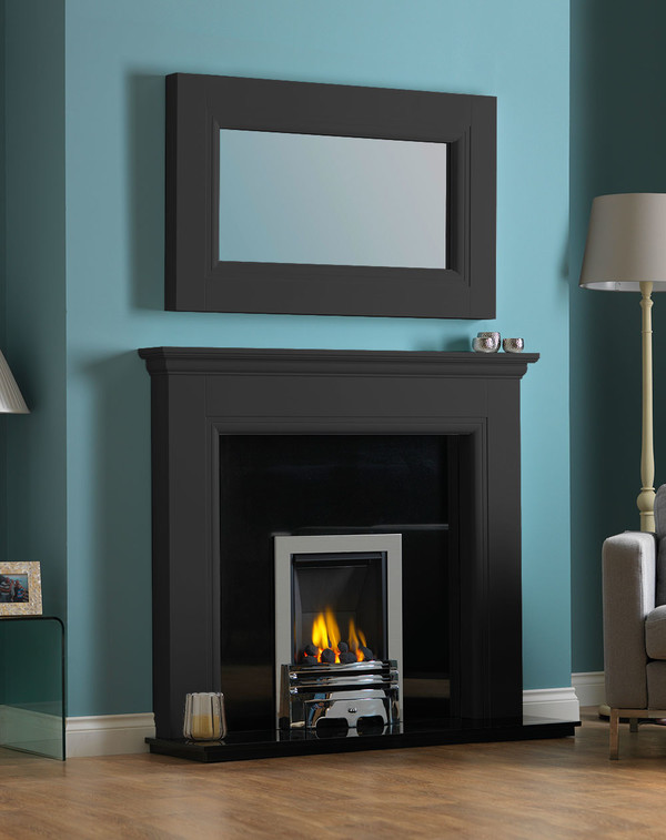 Rydale Fireplace Surround in Matt Black