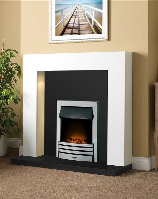 Dalton Fireplace Package shown here in Brilliant White