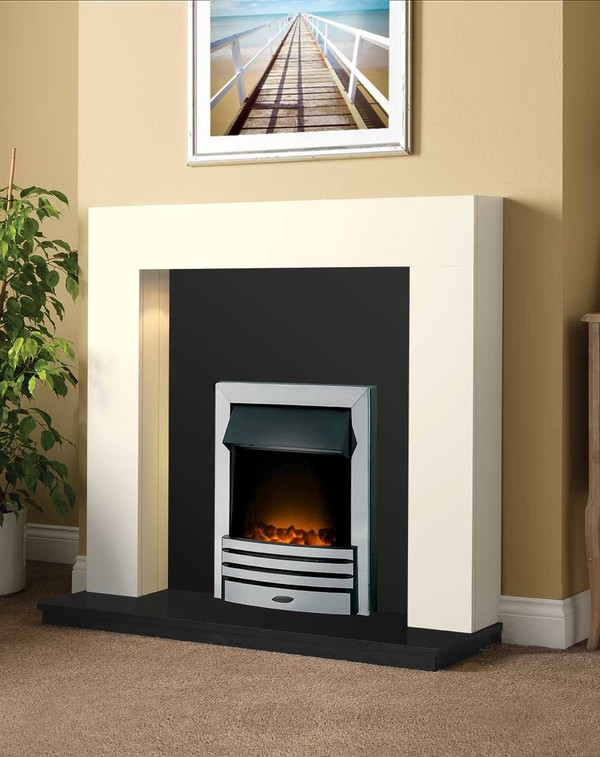 Dalton Fireplace Package shown here in Olde England White