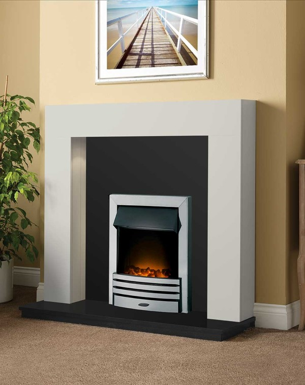 Dalton Fireplace Package shown here in Smooth Mist