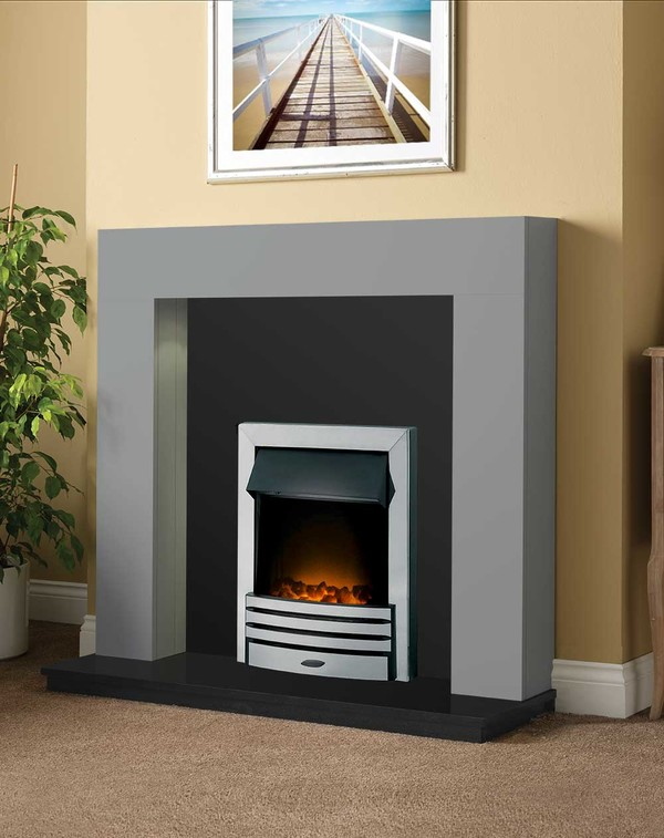 Dalton Fireplace Package shown here in Smooth Cloud