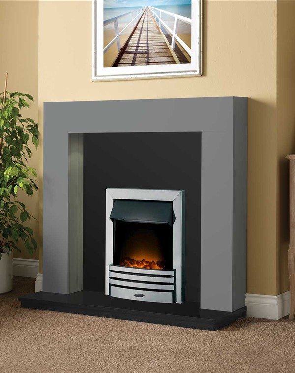 Dalton Fireplace Package shown here in Smooth Storm