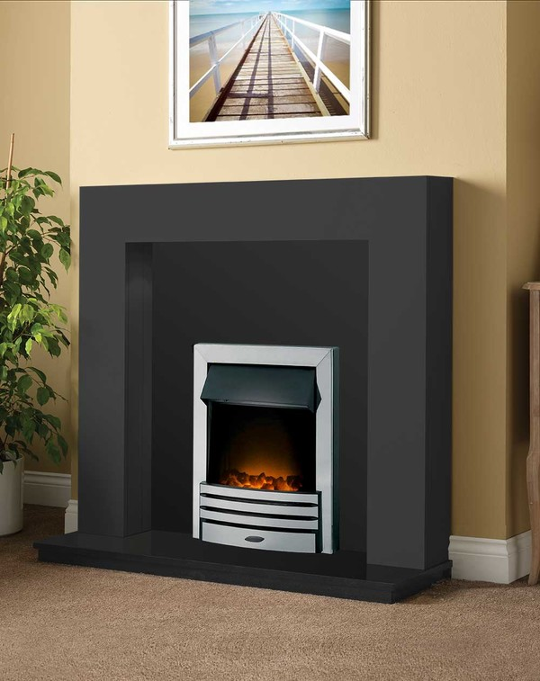 Dalton Fireplace Package shown here in Smooth Slate