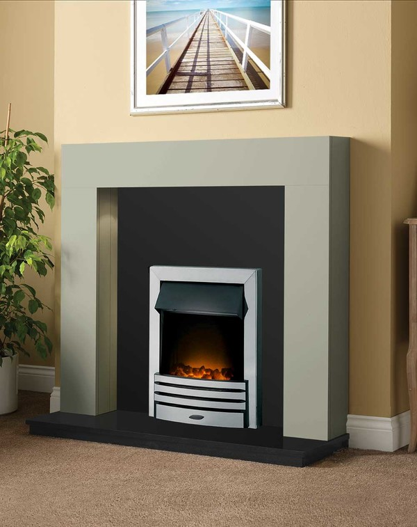 Dalton Fireplace Package shown here in Smooth Olive