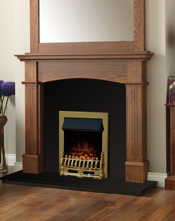 Cherwell Fire Surround Package in Medium Oak with Electric Fire