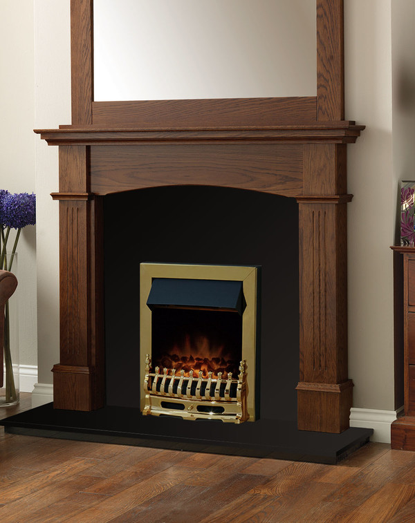 Cherwell Fire Surround Package in Warm Oak with Electric Fire