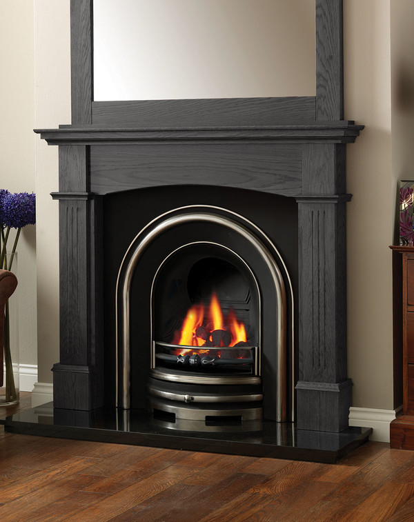 The Solid Oak Lancashire Fire Surround in Wood Grain Slate