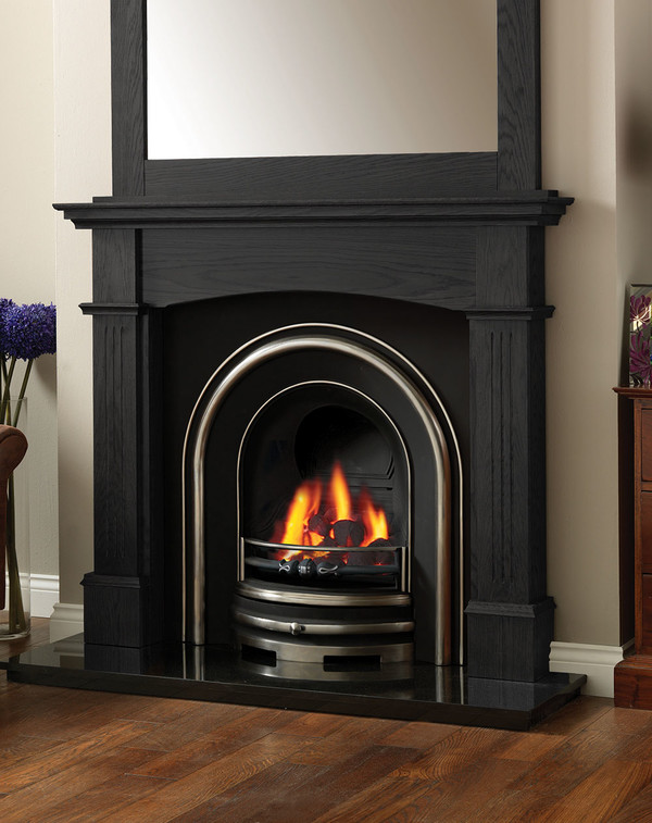 The Solid Oak Lancashire Fire Surround in Black Oak