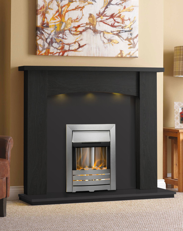Baltimore Fireplace Surround in Black Oak