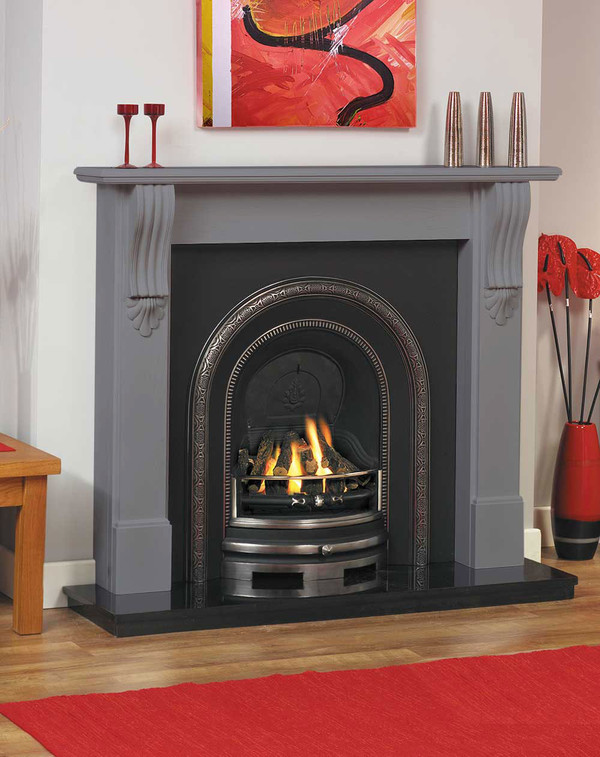 Bray Fireplace Surround in Storm
