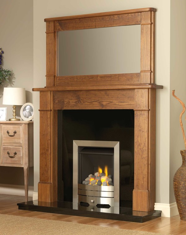 The Larne is shown here in Medium Pine with the Aukland mirror