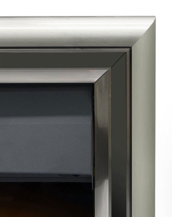 The Meribel 6 in 1 electric insert fire with black trim