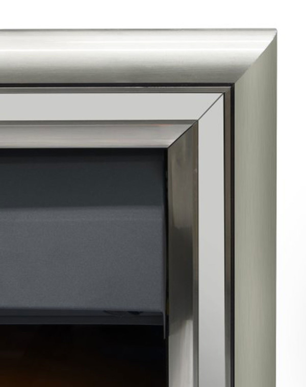 The Meribel 6 in 1 electric insert fire with silver trim