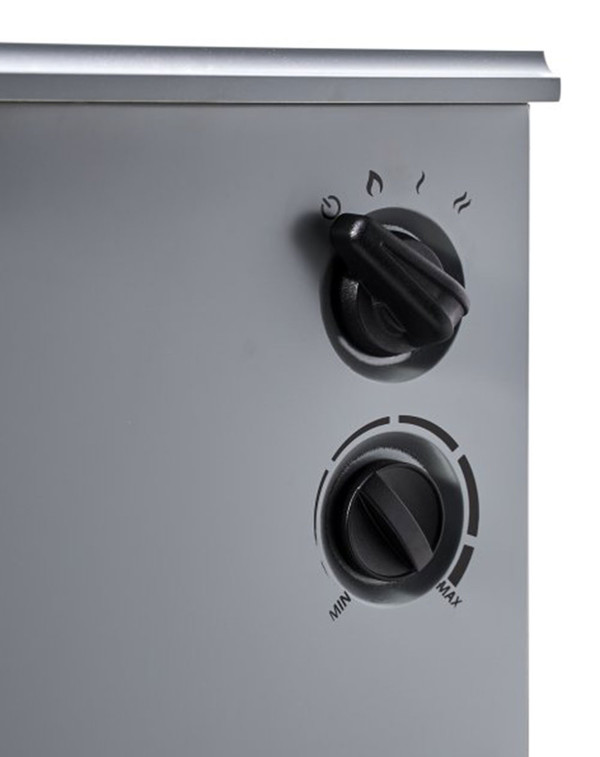 Grey Alpine Electric Stove Controls