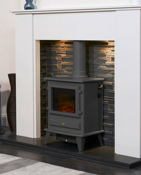The Alaska Electric Stove in Black