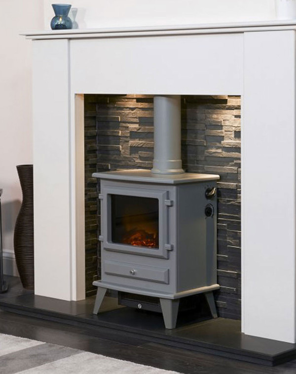 The Alaska Electric Stove in Grey