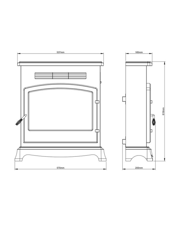 The Be Modern Elstow Electric Stove Sizes