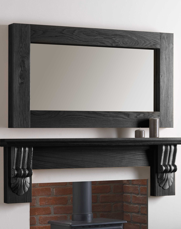 Canberra Mirror Shown in Black Oak