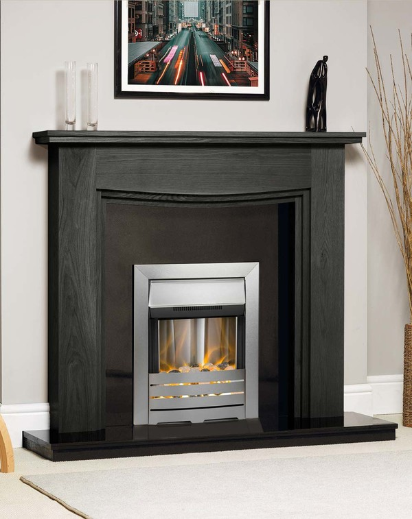 Connecticut Fire Surround Shown Here in Wood Grain Slate