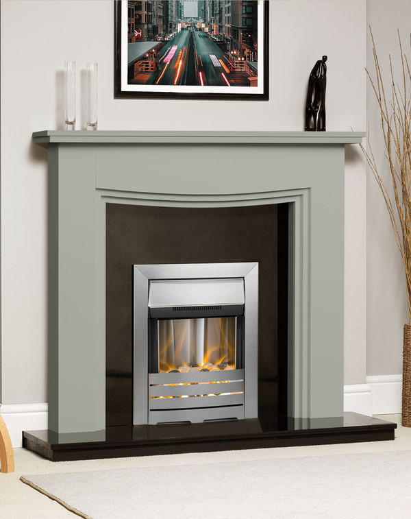 Connecticut Fire Surround Shown Here in Olive