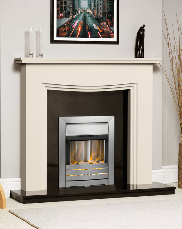 Connecticut Fire Surround Shown Here in Olde England White