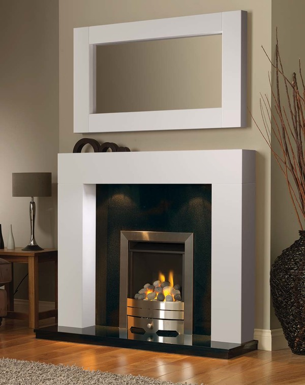 California Fireplace Surround in Brilliant White