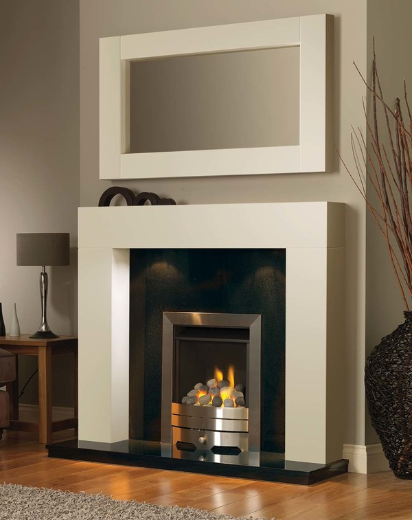 California Fireplace Surround in Olde England White