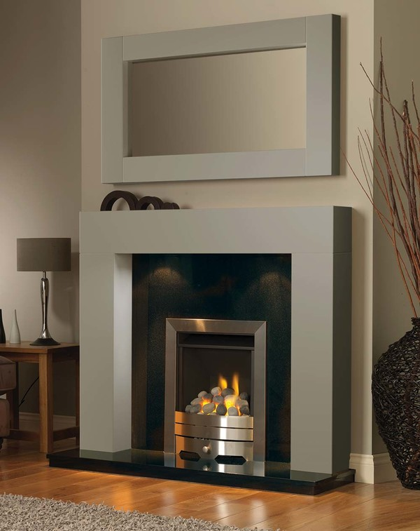 California Fireplace Surround in Smooth Olive