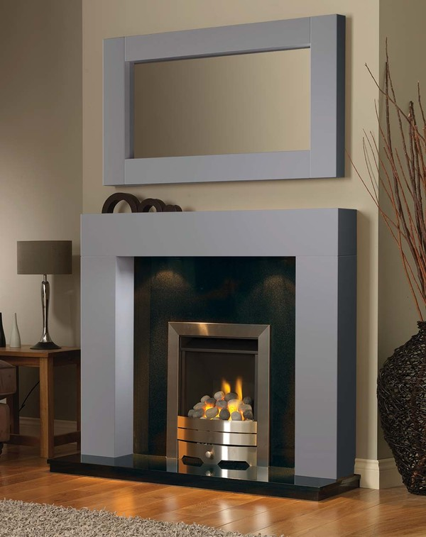 California Fireplace Surround in Cloud