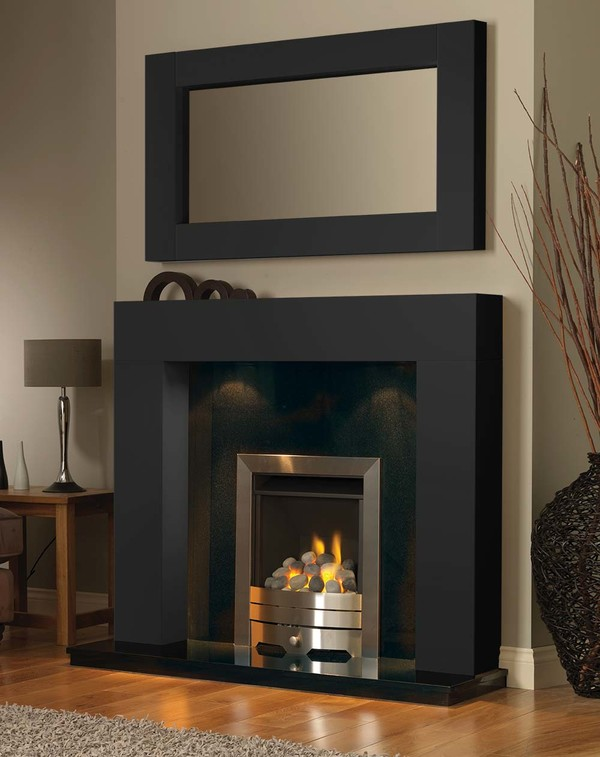 California Fireplace Surround in Matt Black