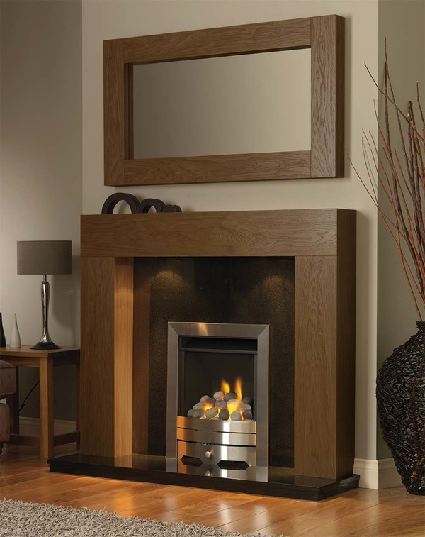 California Fireplace Surround in Medium Oak