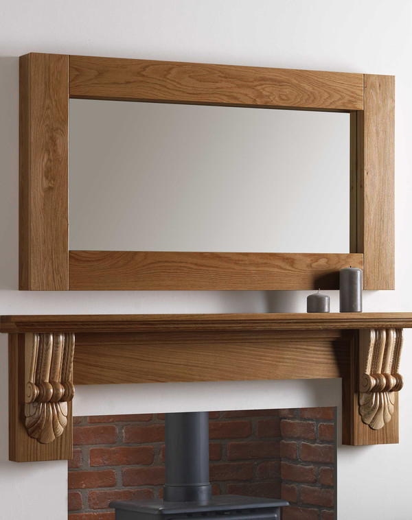 Canberra Mirror Shown in Medium Oak
