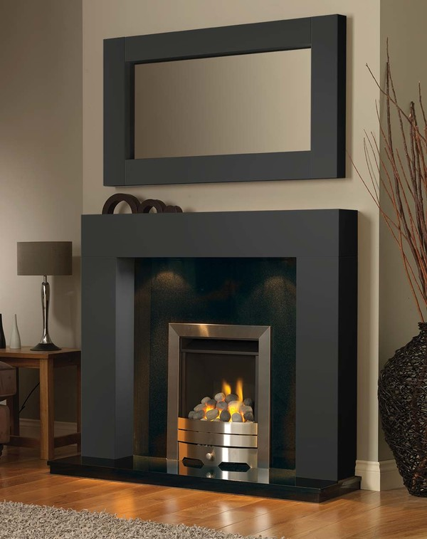 California Fire Surround in Smooth Slate