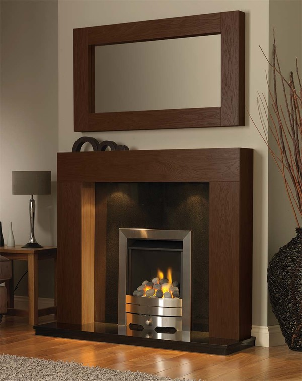 California Fire Surround in Warm Oak