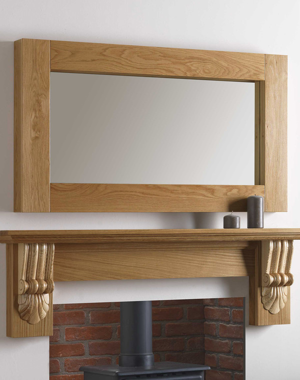 Canberra Mirror Shown in Golden Oak