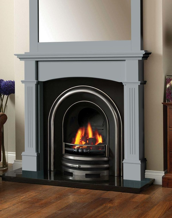 Cherwell Fireplace surround in Smooth Cloud