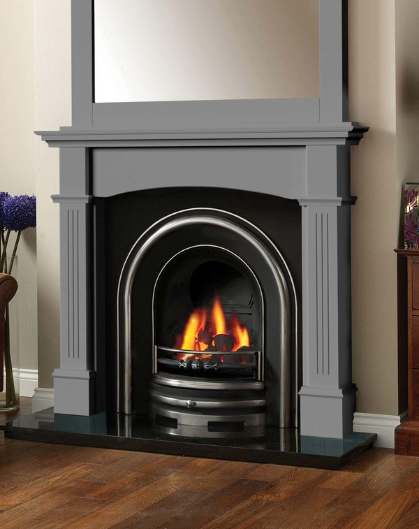 Cherwell Fireplace surround in Smooth Storm