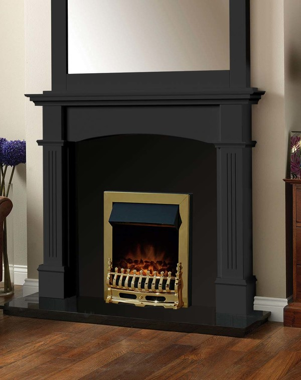Cherwell Fireplace Surround in Matt Black