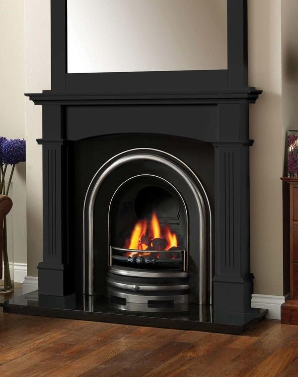 Cherwell Fireplace Surround in Matt Black