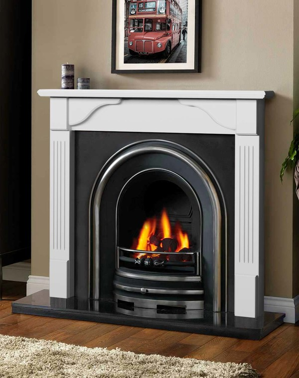 Avon Fireplace Surround in Brilliant White
