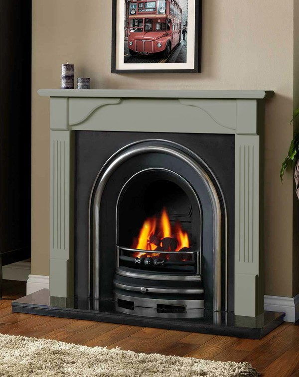 Avon Fireplace Surround in Smooth Olive