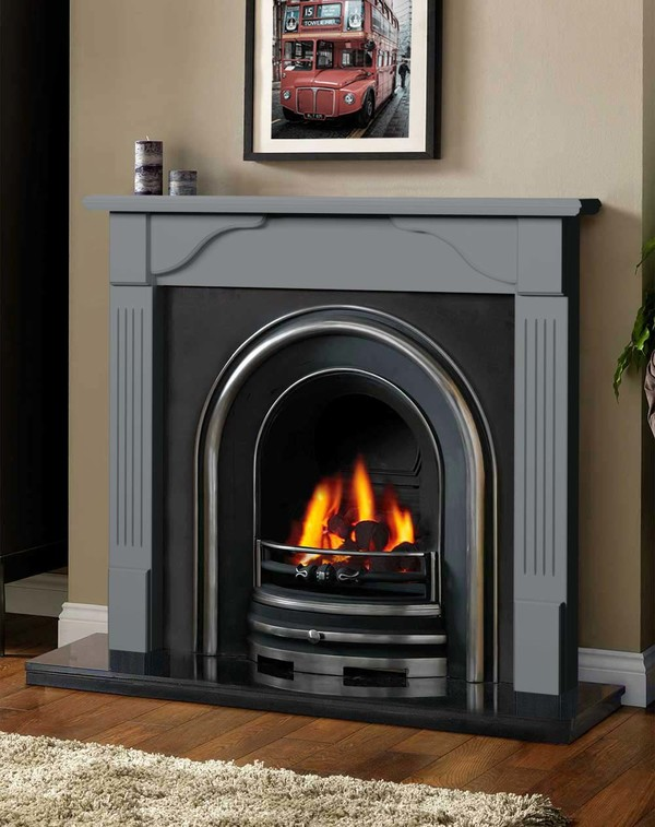 Avon Fireplace Surround in Smooth Storm