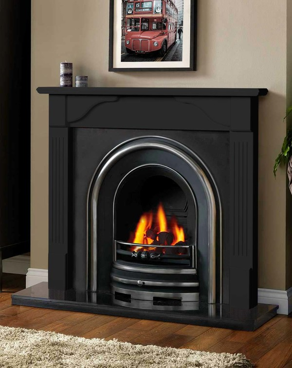 Avon Fireplace Surround in Matt Black