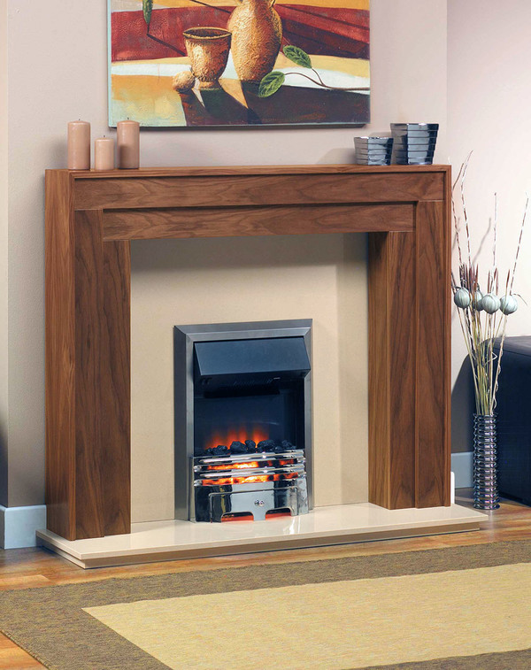 Montana Fire Surround shown here in American Walnut