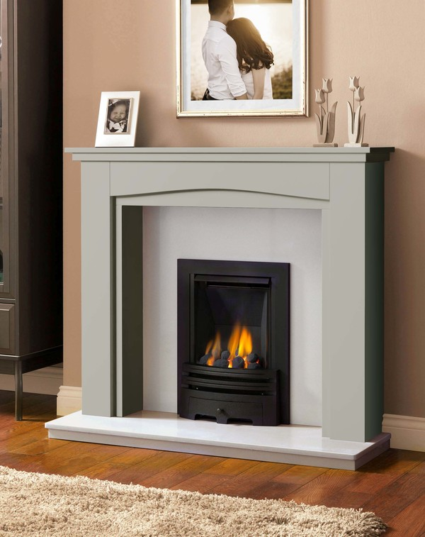Windermere Fire Surround in Smooth Olive