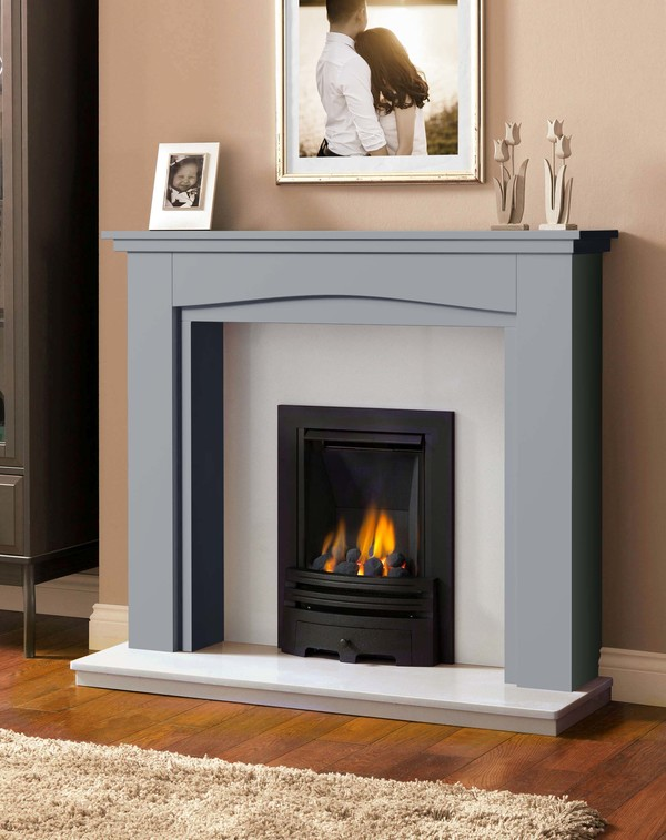 Windermere Fire Surround in Smooth Cloud